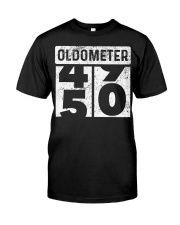 Oldometer Odometer Funny 50th B Classic T-Shirt front