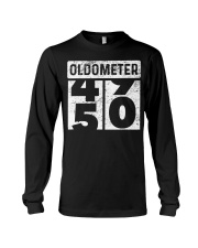 Oldometer Odometer Funny 50th B Long Sleeve Tee thumbnail