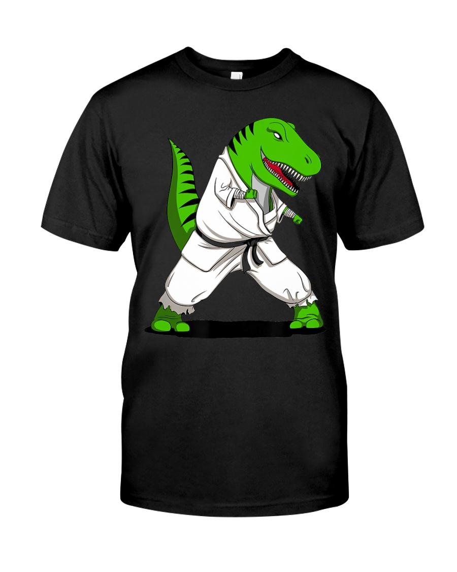 T-Rex Dinosaur Karate Ninja M Classic T-Shirt
