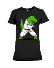 T-Rex Dinosaur Karate Ninja M Premium Fit Ladies Tee thumbnail