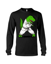 T-Rex Dinosaur Karate Ninja M Long Sleeve Tee thumbnail