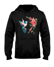 Rainbow Color Hummingbird Fun Hooded Sweatshirt thumbnail