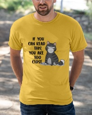 If you can read this - Funny Cat T-Shirt Classic T-Shirt apparel-classic-tshirt-lifestyle-front-50