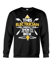 Electrician short job box power shirt Crewneck Sweatshirt thumbnail