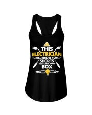Electrician short job box power shirt Ladies Flowy Tank thumbnail