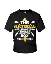 Electrician short job box power shirt Youth T-Shirt thumbnail