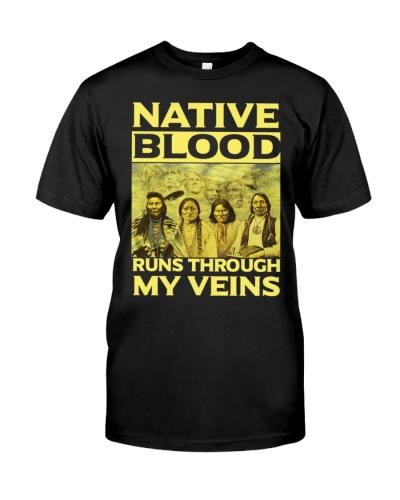 Native blood proud through veins shirt