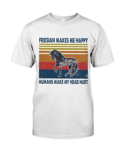 Vintage Make Me Happy - Friesian Horse