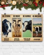 Poster Vintage Be Strong - Holstein Friesian 17x11 Poster aos-poster-landscape-17x11-lifestyle-28
