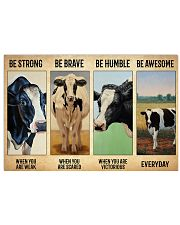 Poster Vintage Be Strong - Holstein Friesian 17x11 Poster front