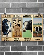 Poster Vintage Be Strong - Holstein Friesian 17x11 Poster poster-landscape-17x11-lifestyle-18