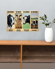 Poster Vintage Be Strong - Holstein Friesian 17x11 Poster poster-landscape-17x11-lifestyle-24