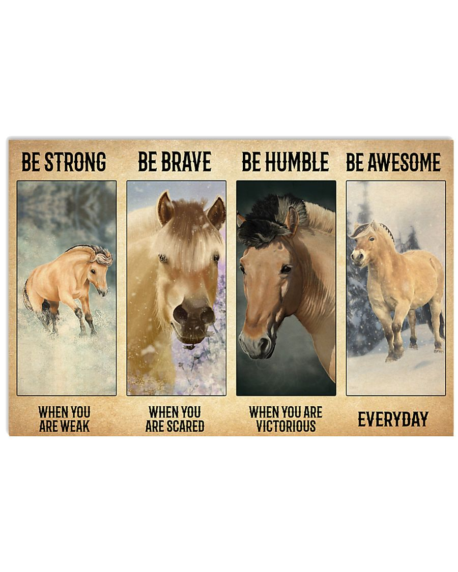 Poster Vitorious Everyday - Fjord Horse 17x11 Poster