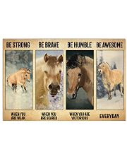 Poster Vitorious Everyday - Fjord Horse 17x11 Poster front