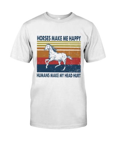 Vintage Make Me Happy - Horse