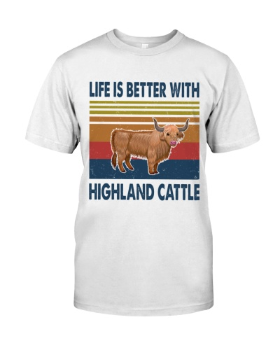 Vintage Life Is Better With - Highland Cattle