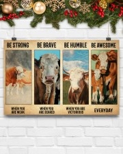 Poster Vintage Be Strong - Simmental02 17x11 Poster aos-poster-landscape-17x11-lifestyle-28