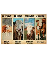 Poster Vintage Be Strong - Simmental02 17x11 Poster front