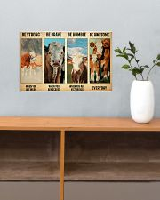 Poster Vintage Be Strong - Simmental02 17x11 Poster poster-landscape-17x11-lifestyle-24