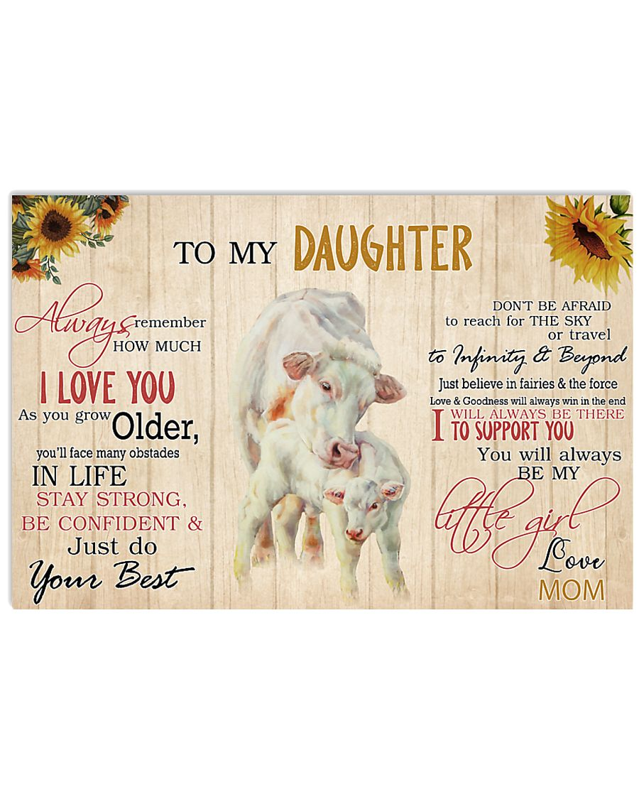 Poster To My Daughter - Charolais 17x11 Poster