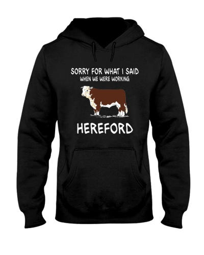 SORRY FOR WHAT I SAID HEREFORD