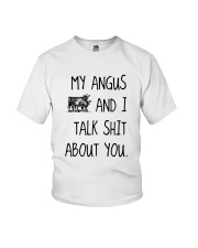 MY ANGUS AND I TALK ABOUT YOU Youth T-Shirt thumbnail