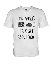 MY ANGUS AND I TALK ABOUT YOU V-Neck T-Shirt thumbnail