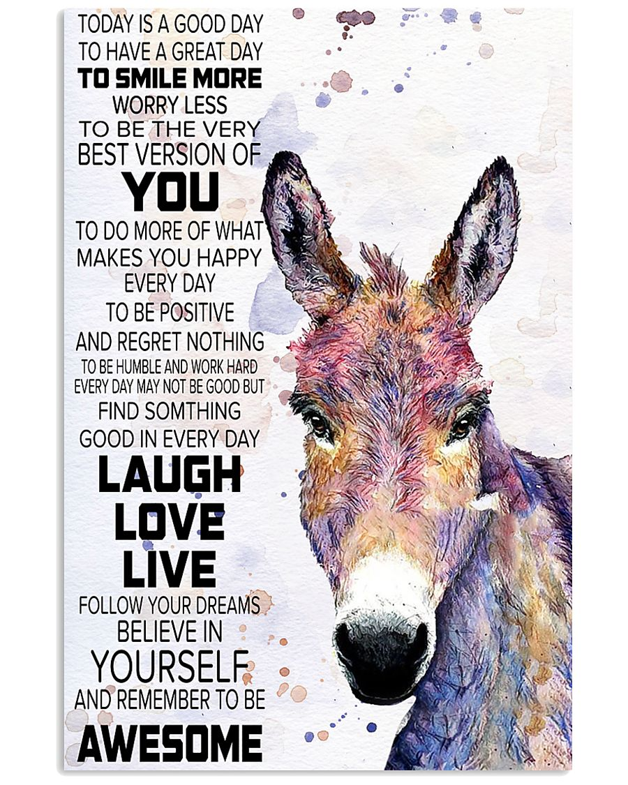 Today Is A Good Day - Donkey 11x17 Poster