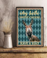 Why Hello Sweet Cheeks - Donkey 11x17 Poster lifestyle-poster-3