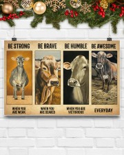 Poster Vintage Be Strong - Brown Swiss 17x11 Poster aos-poster-landscape-17x11-lifestyle-28