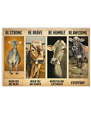 Poster Vintage Be Strong - Brown Swiss 17x11 Poster front