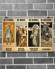 Poster Vintage Be Strong - Brown Swiss 17x11 Poster poster-landscape-17x11-lifestyle-18