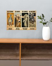 Poster Vintage Be Strong - Brown Swiss 17x11 Poster poster-landscape-17x11-lifestyle-24