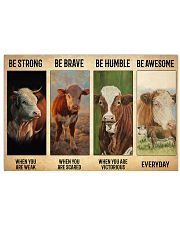 Poster Vintage Be Strong - Hereford 17x11 Poster front