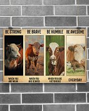 Poster Vintage Be Strong - Hereford 17x11 Poster poster-landscape-17x11-lifestyle-18