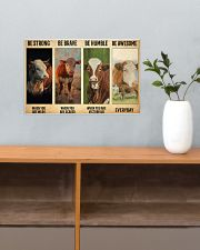 Poster Vintage Be Strong - Hereford 17x11 Poster poster-landscape-17x11-lifestyle-24