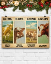 Poster Vintage Be Strong - Guernsey 17x11 Poster aos-poster-landscape-17x11-lifestyle-28