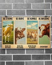 Poster Vintage Be Strong - Guernsey 17x11 Poster poster-landscape-17x11-lifestyle-18