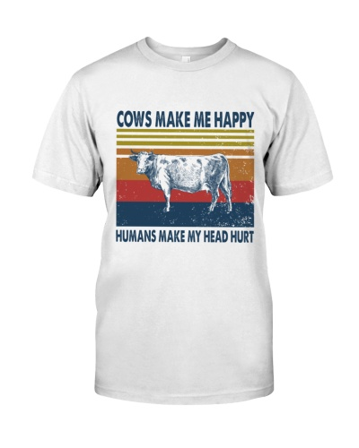 Vintage Make Me Happy - Cow