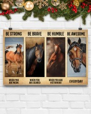 Poster Vintage Be Strong - Quarter Horse 17x11 Poster aos-poster-landscape-17x11-lifestyle-28