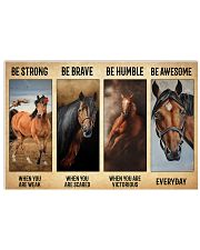 Poster Vintage Be Strong - Quarter Horse 17x11 Poster front