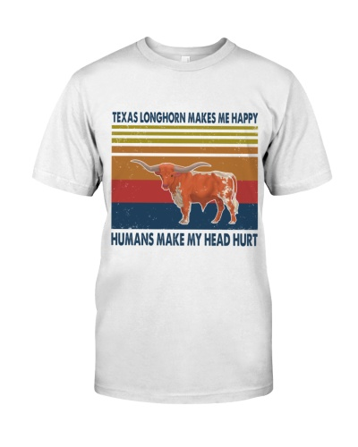Vintage Make Me Happy - Texas Longhorn