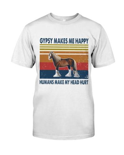 Vintage Make Me Happy - Gypsy Horse