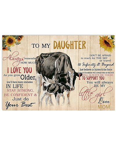 Poster To My Daughter - Holstein Friesian