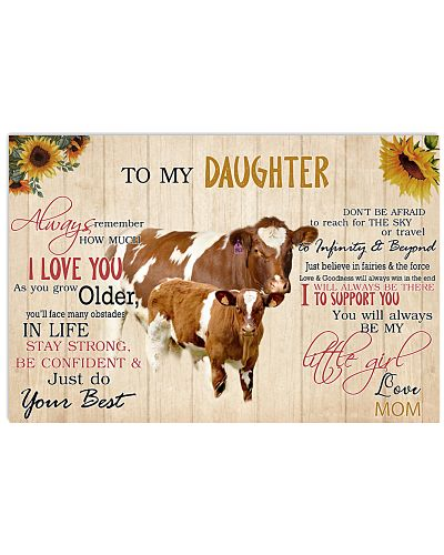 Poster To My Daughter - Maine-Anjou cattle