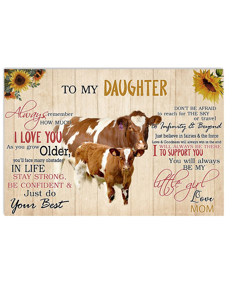 Poster To My Daughter - Maine-Anjou cattle 17x11 Poster