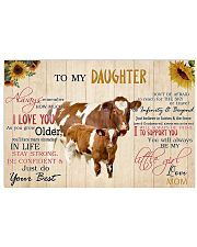 Poster To My Daughter - Maine-Anjou cattle 17x11 Poster front