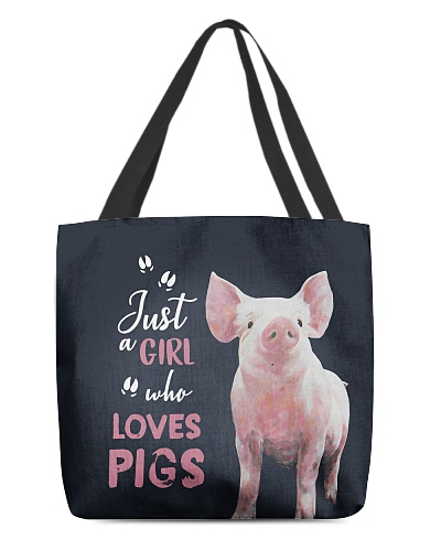 Tote Bag Just Loves - Pig