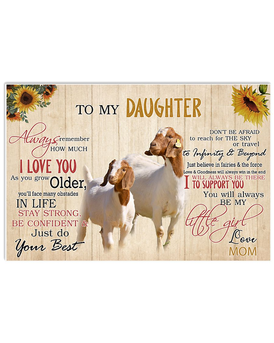 Poster To My Daughter - Boer Goat 17x11 Poster