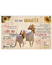 Poster To My Daughter - Boer Goat 17x11 Poster front